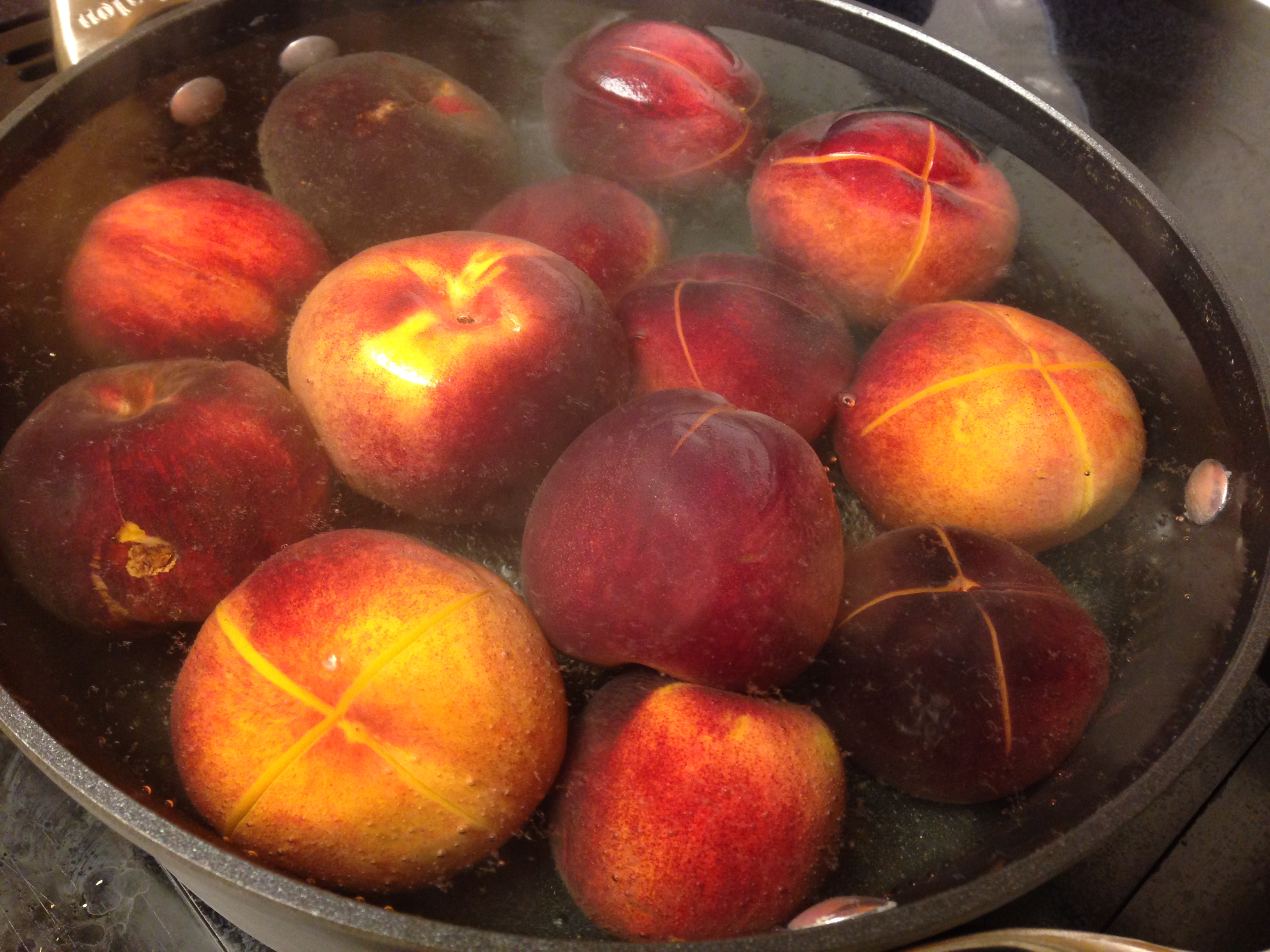 Bourbon-Poached Peaches | Ski Boots in the Kitchen