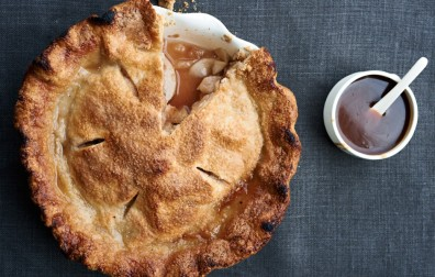 Apple Pie with Spiced Caramel Sauce