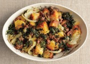 Spinach, Sausage and Fennel Stuffing with Toasted Brioche