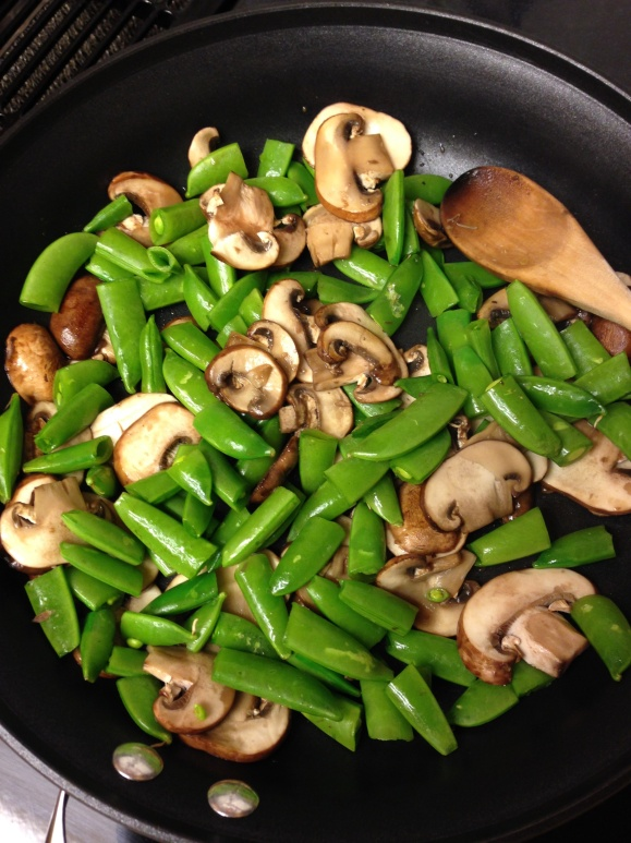 Snap Peas & Mushrooms