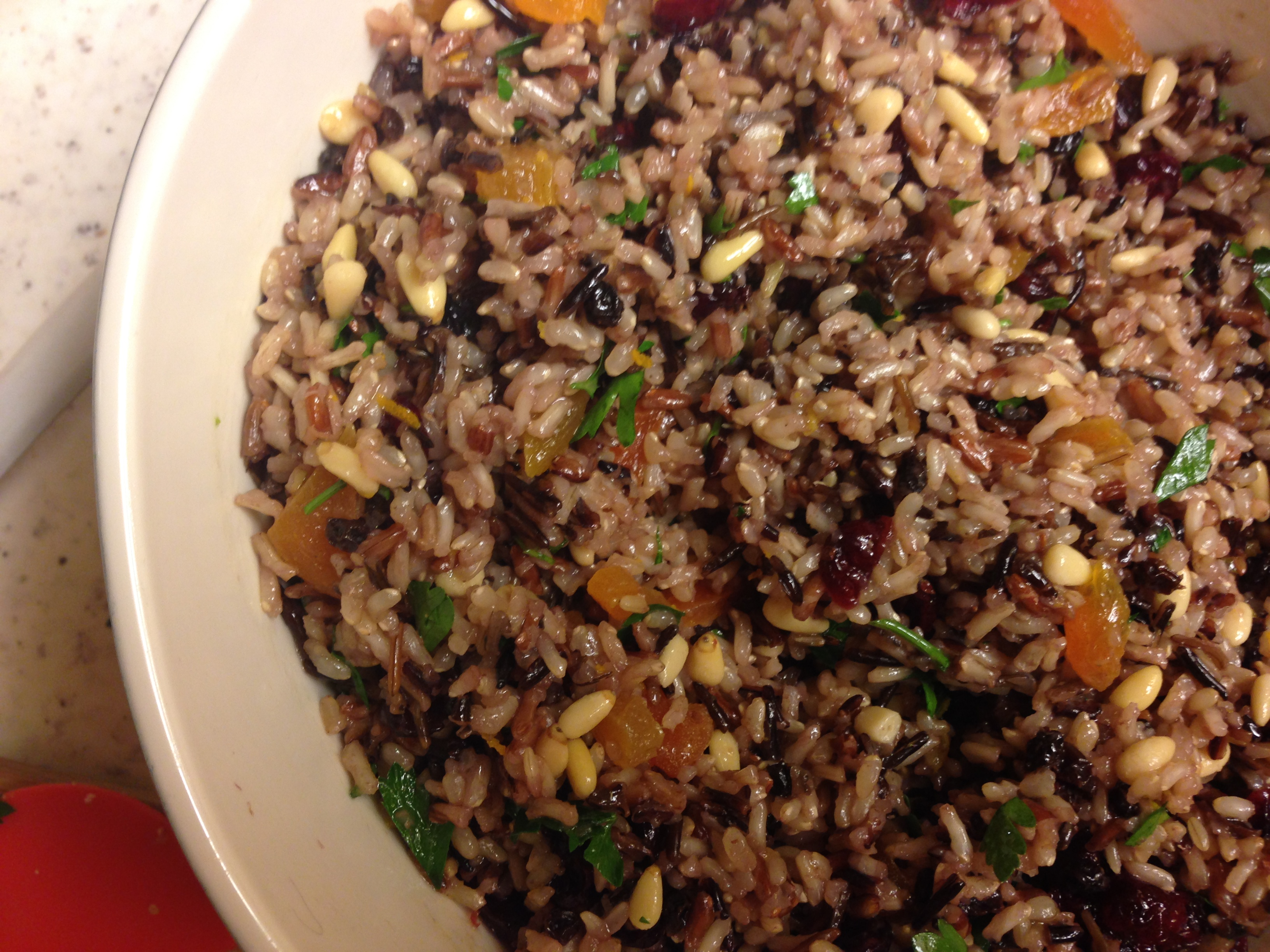 rice is wild rice salad with dandelion spring pea and wild rice salad ...